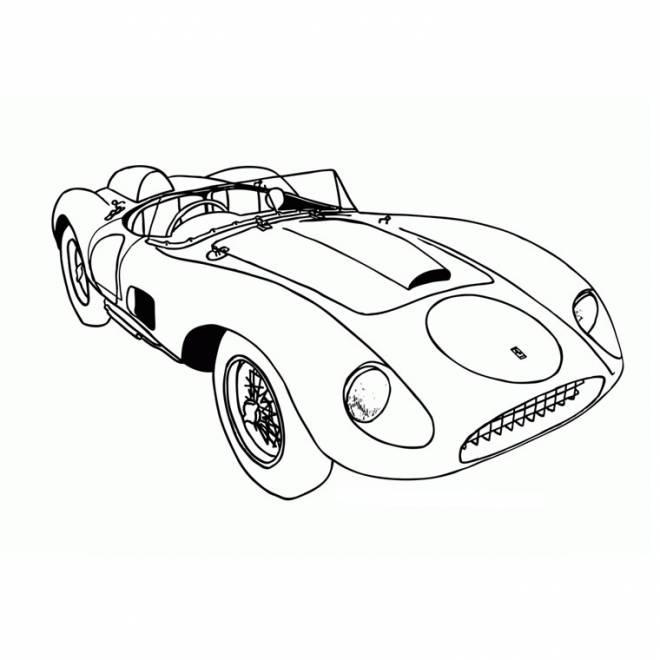 Coloriage et dessins gratuits super voiture décapotable à imprimer
