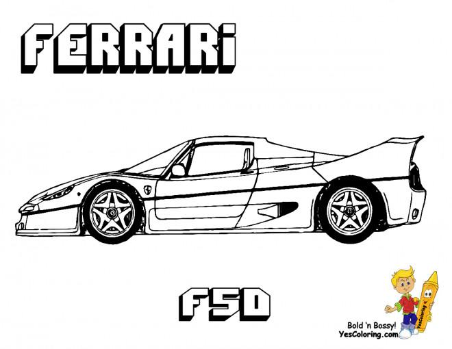 Coloriage Voiture Ferrari F50 Dessin Gratuit 224 Imprimer