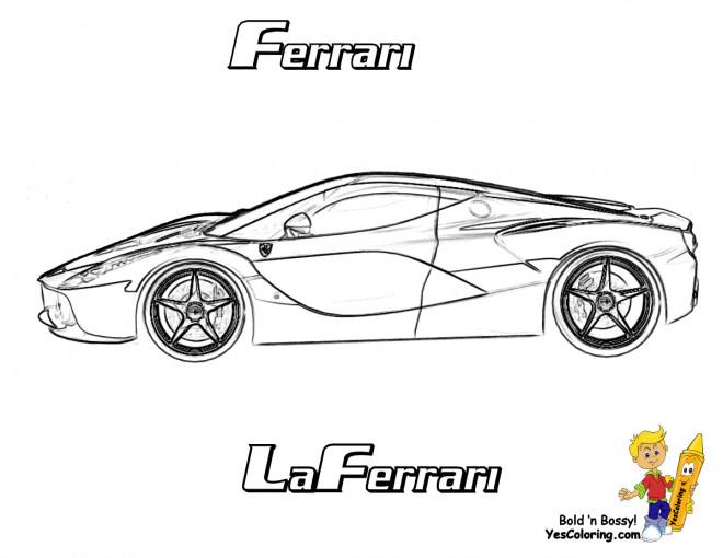Coloriage Voiture Sport Ferrari Dessin Gratuit 224 Imprimer