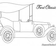 Coloriage et dessins gratuit Auto Ford classique à imprimer