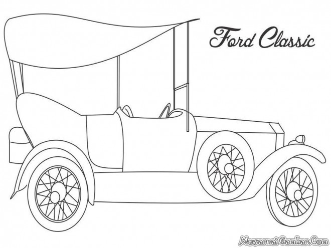 Coloriage et dessins gratuits Auto Ford classique à imprimer