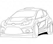 Coloriage Auto Ford de Rallye