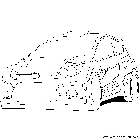 Coloriage et dessins gratuits Auto Ford de Rallye à imprimer