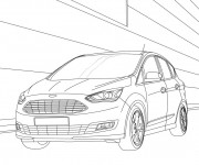 Coloriage Auto Ford en couleur