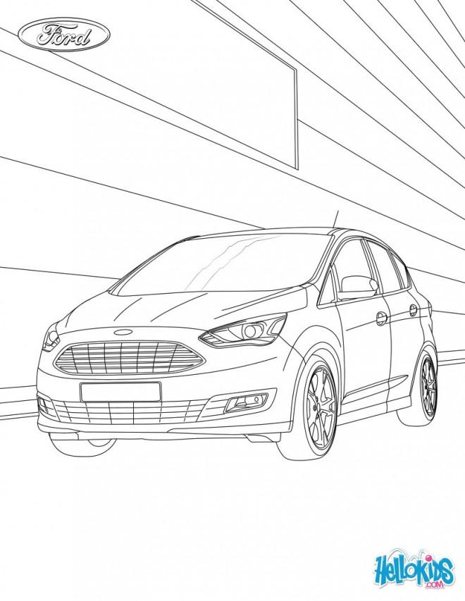 Coloriage et dessins gratuits Auto Ford en couleur à imprimer