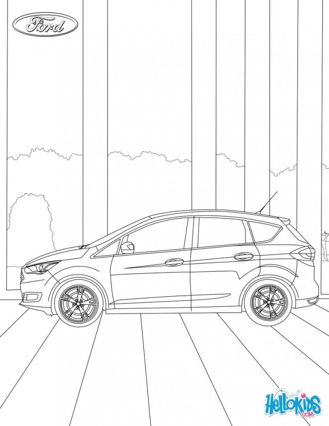 Coloriage et dessins gratuits Auto Ford Focus stylisé à imprimer