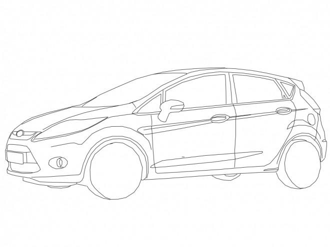 Coloriage et dessins gratuits Auto Ford simple à imprimer