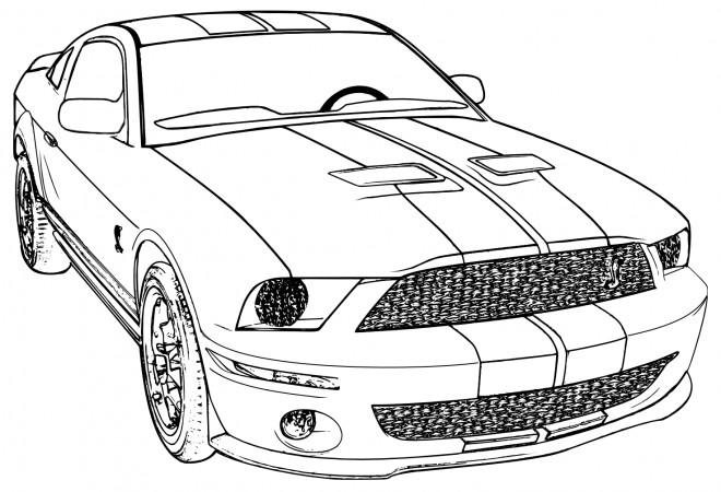 Coloriage et dessins gratuits Automobile Camaro couleur à imprimer