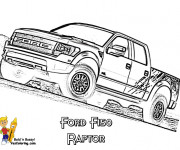 Coloriage Camionnette Ford