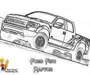 Coloriage et dessins gratuit Camionnette Ford à imprimer