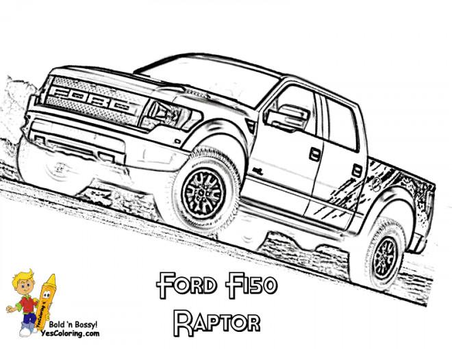 Coloriage et dessins gratuits Camionnette Ford à imprimer