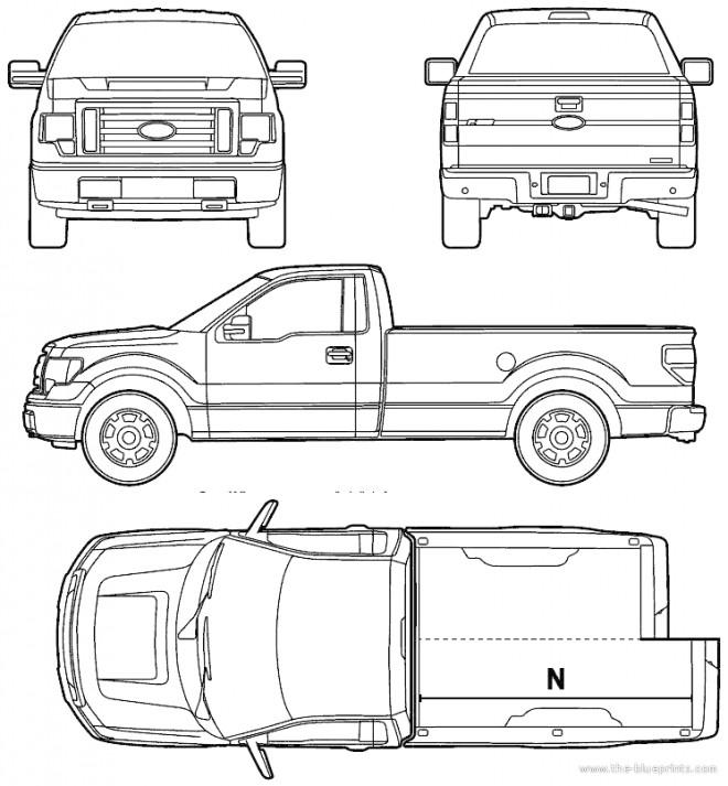 Coloriage et dessins gratuits Camionnette Ford Pick Up à imprimer