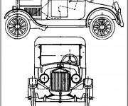 Coloriage et dessins gratuit Ford Classique à découper à imprimer