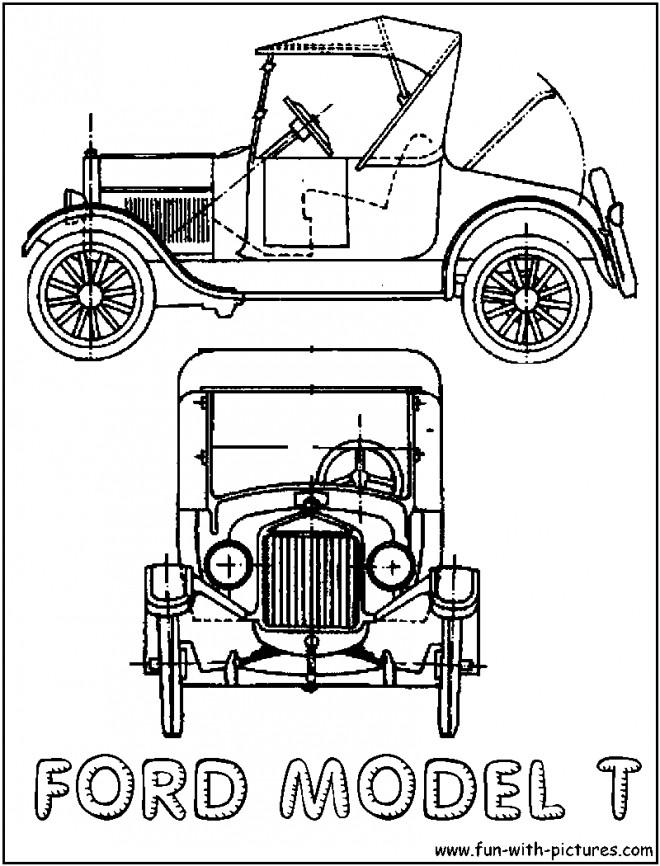 Coloriage et dessins gratuits Ford Classique à découper à imprimer