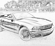 Coloriage Ford coupé