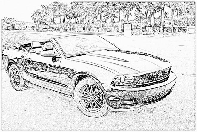 Coloriage et dessins gratuits Ford coupé à imprimer