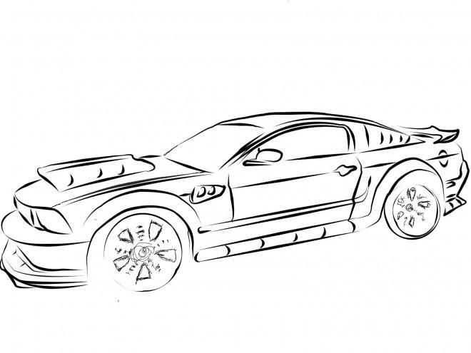 Coloriage et dessins gratuits Ford de course à imprimer