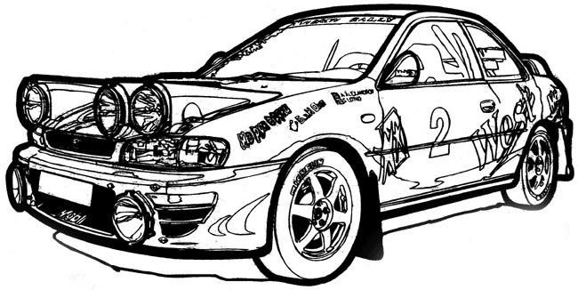 Coloriage et dessins gratuits Ford de sport Rallye à imprimer