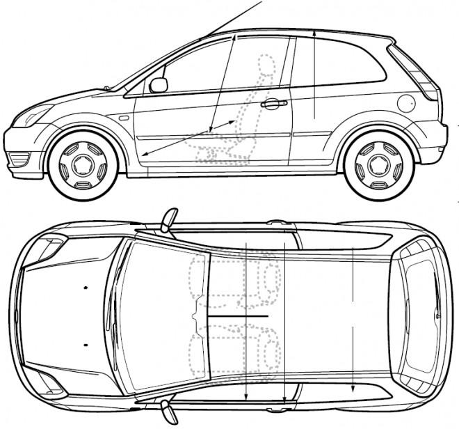 Coloriage et dessins gratuits Ford Fiesta à imprimer