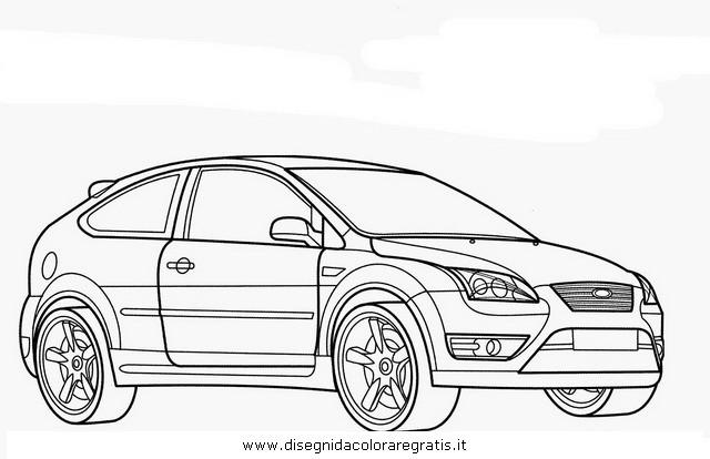 Coloriage et dessins gratuits Ford Fiesta maternelle à imprimer