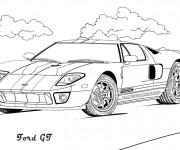 Coloriage Ford GT à télécharger