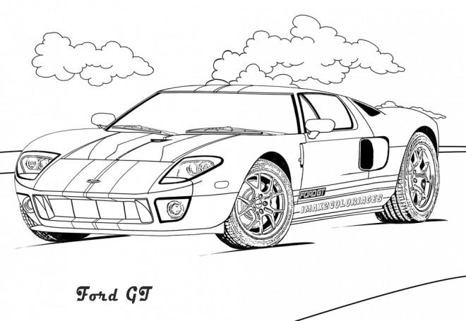 Coloriage et dessins gratuits Ford GT à télécharger à imprimer