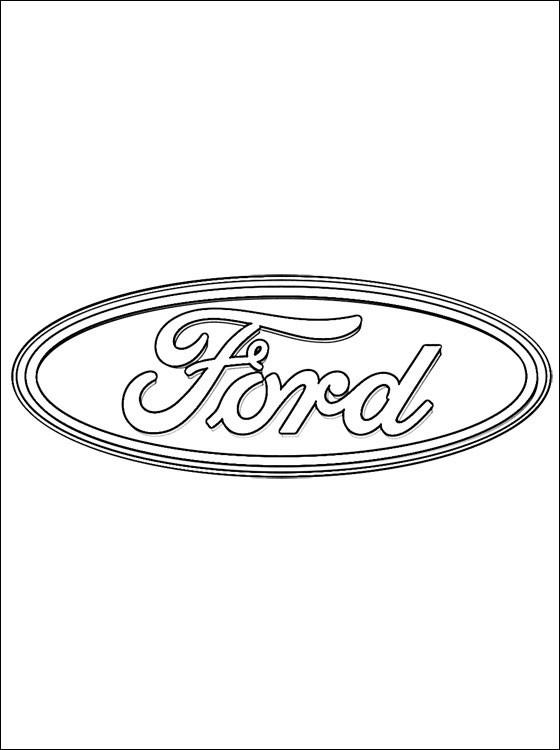 Coloriage et dessins gratuits Ford Logo à imprimer