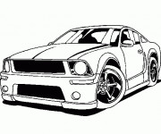 Coloriage Ford Mustang
