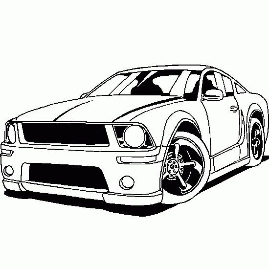 Coloriage et dessins gratuits Ford Mustang à imprimer