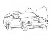 Coloriage Ford Mustang à colorier