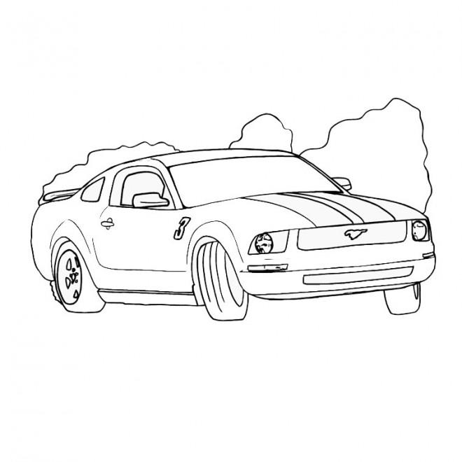 Coloriage et dessins gratuits Ford Mustang à colorier à imprimer