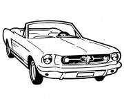 Coloriage Ford Mustang Convertible