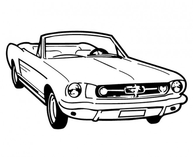 coloriage ford mustang convertible dessin gratuit  u00e0 imprimer