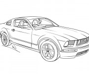 Coloriage Ford Mustang GT