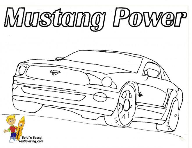Coloriage et dessins gratuits Ford Mustang Power à imprimer