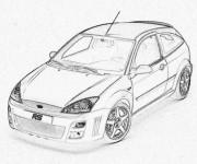 Coloriage et dessins gratuit Ford réaliste à imprimer