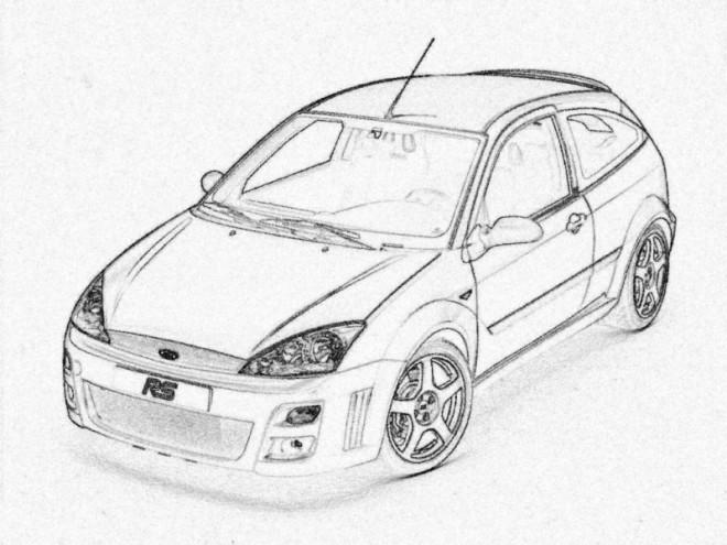 Coloriage et dessins gratuits Ford réaliste à imprimer
