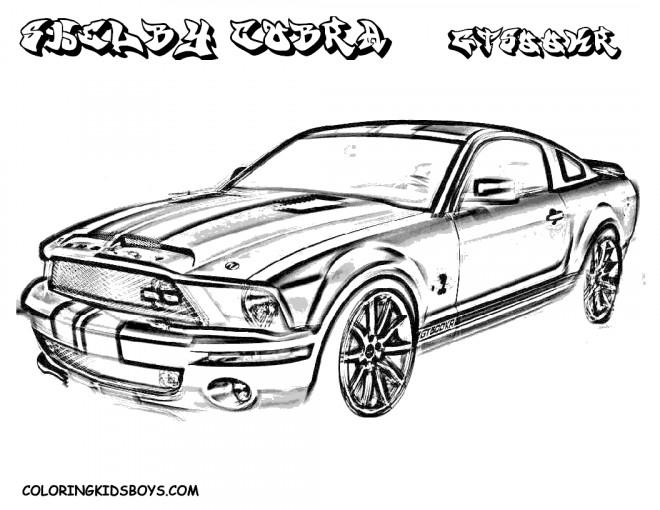 Coloriage et dessins gratuits Ford Shelby Cobra à imprimer