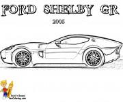Coloriage et dessins gratuit Ford Shelby GR à imprimer