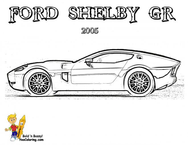 Coloriage et dessins gratuits Ford Shelby GR à imprimer