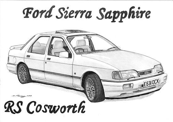 Coloriage et dessins gratuits Ford Sierra Sapphire à imprimer