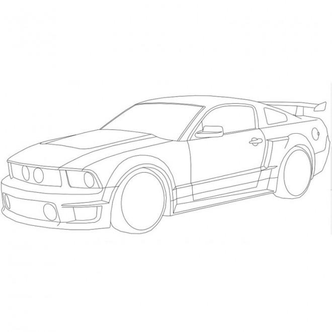 Coloriage et dessins gratuits Ford stylisé à imprimer