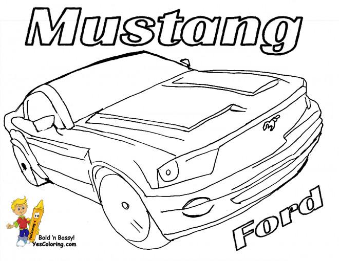 Coloriage et dessins gratuits Mustang Ford couleur à imprimer