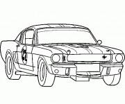Coloriage et dessins gratuit Voiture de Course Ford à imprimer