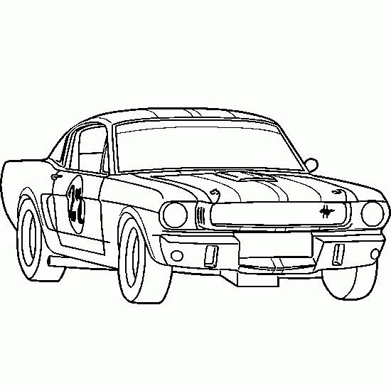 Coloriage et dessins gratuits Voiture de Course Ford à imprimer