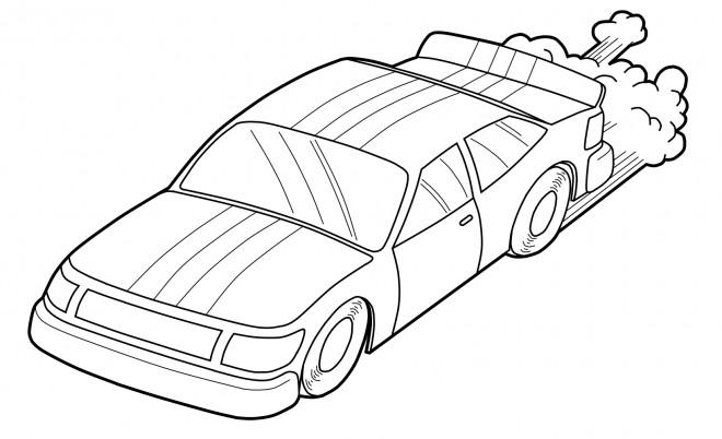 Coloriage et dessins gratuits Voiture de Course Ford facile à imprimer