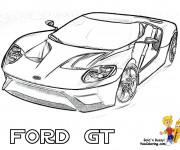 Coloriage et dessins gratuit Voiture de Sport Ford GT à imprimer