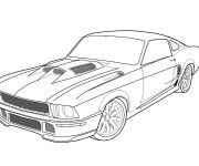 Coloriage et dessins gratuit Voiture Ford de Sport à imprimer