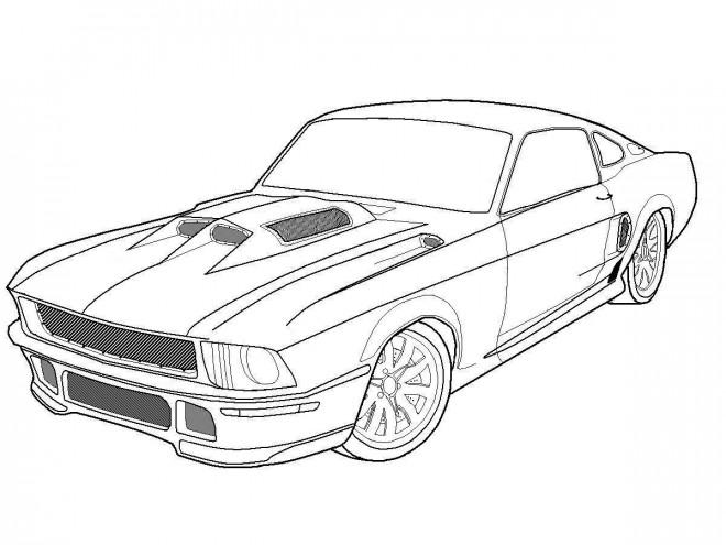 Coloriage et dessins gratuits Voiture Ford de Sport à imprimer