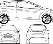 Coloriage et dessins gratuit Voiture Ford Fiesta à imprimer